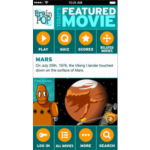 BrainPOP Featured Movie App for iOS icon