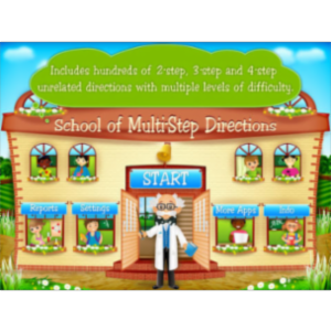 School of Multi Step Directions App for iPad icon