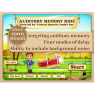 Auditory Memory Ride App for iPad icon