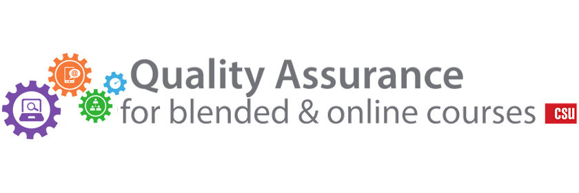 Quality Assurance for blended and online courses